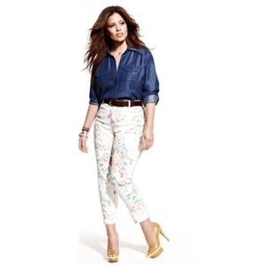 Not Your Daughters Jeans NYDJ Audrey Floral Denim